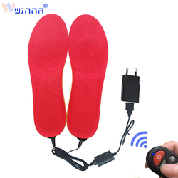 Unisex USB Electric Heating Insoles with Remote Control Breathable Increasing Winter Outdoor Sport Ski Camping Thermal Insoles