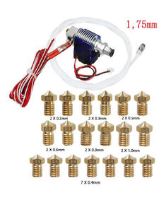 0.2-1.0mm 19x Nozzles Metal 12V Extruder Set For 1.75mm 3D Printer Hot End Head