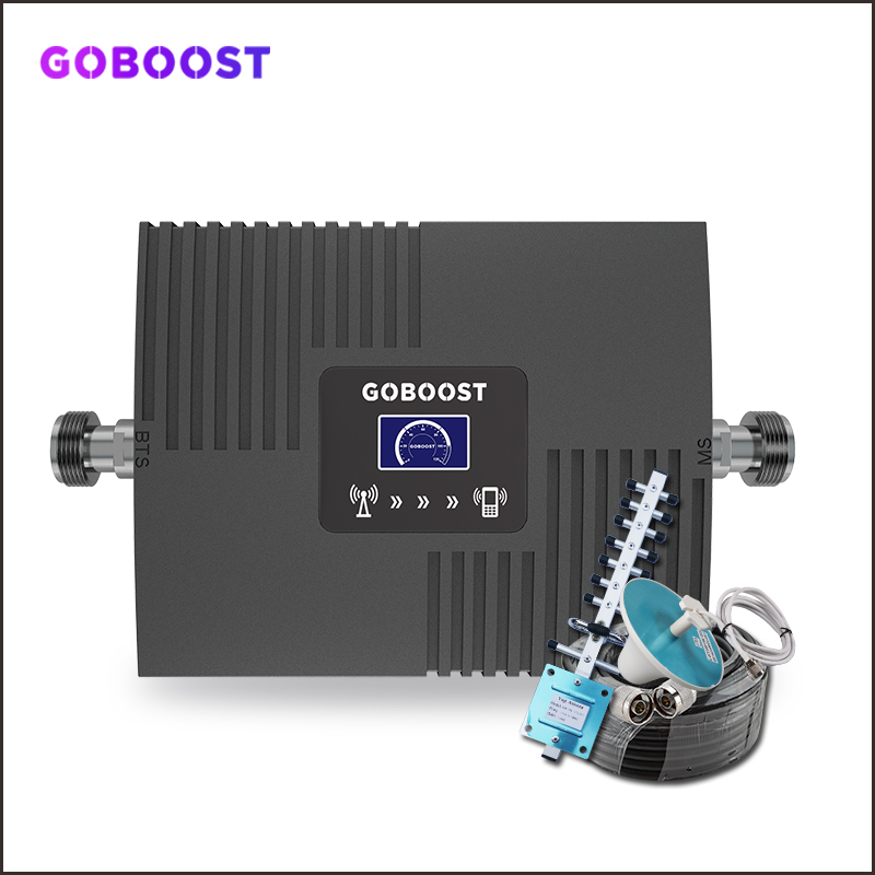 GSM Repeater 2G 3G 4G Cellular Signal Amplifier LTE 4G DCS Cellular Amplifier GSM 900 1800 2100 Mobile Signal Booster Repeater -