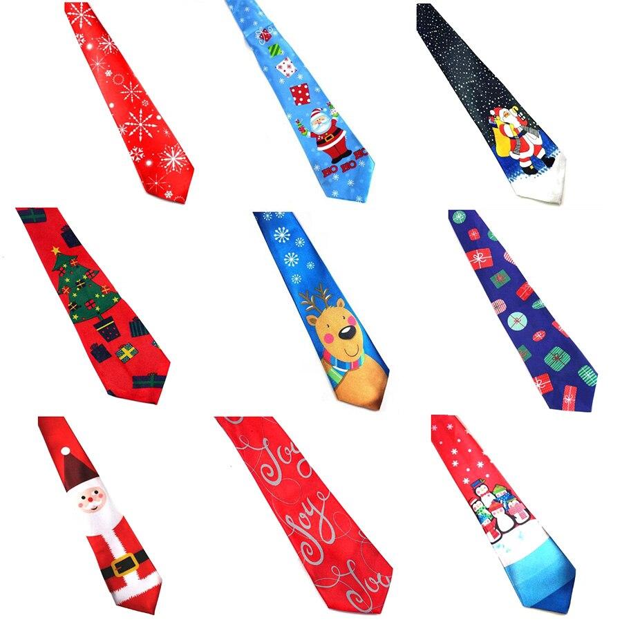Ricnais New Arrivel Christmas Tie 9.5cm Style Men's Fashion Neckties Helloween Festival Tie Soft Designer Character Necktie