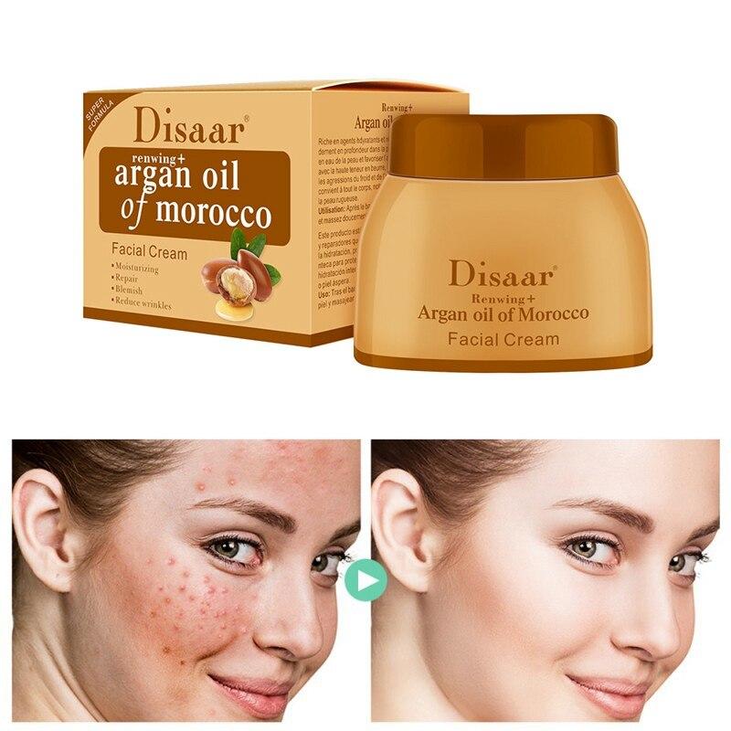 50g Argan Oil Cream Repair Lighten Blemish Face Cream Serum Anti-aging Lifting Firming Face Smooth Skin Care Cream