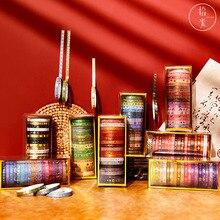 8 Designs 20 Rolls/box Morandi Series Creative National Tide Hand Account DIY Collage Decoration Material Bronzing Tape 2021 New