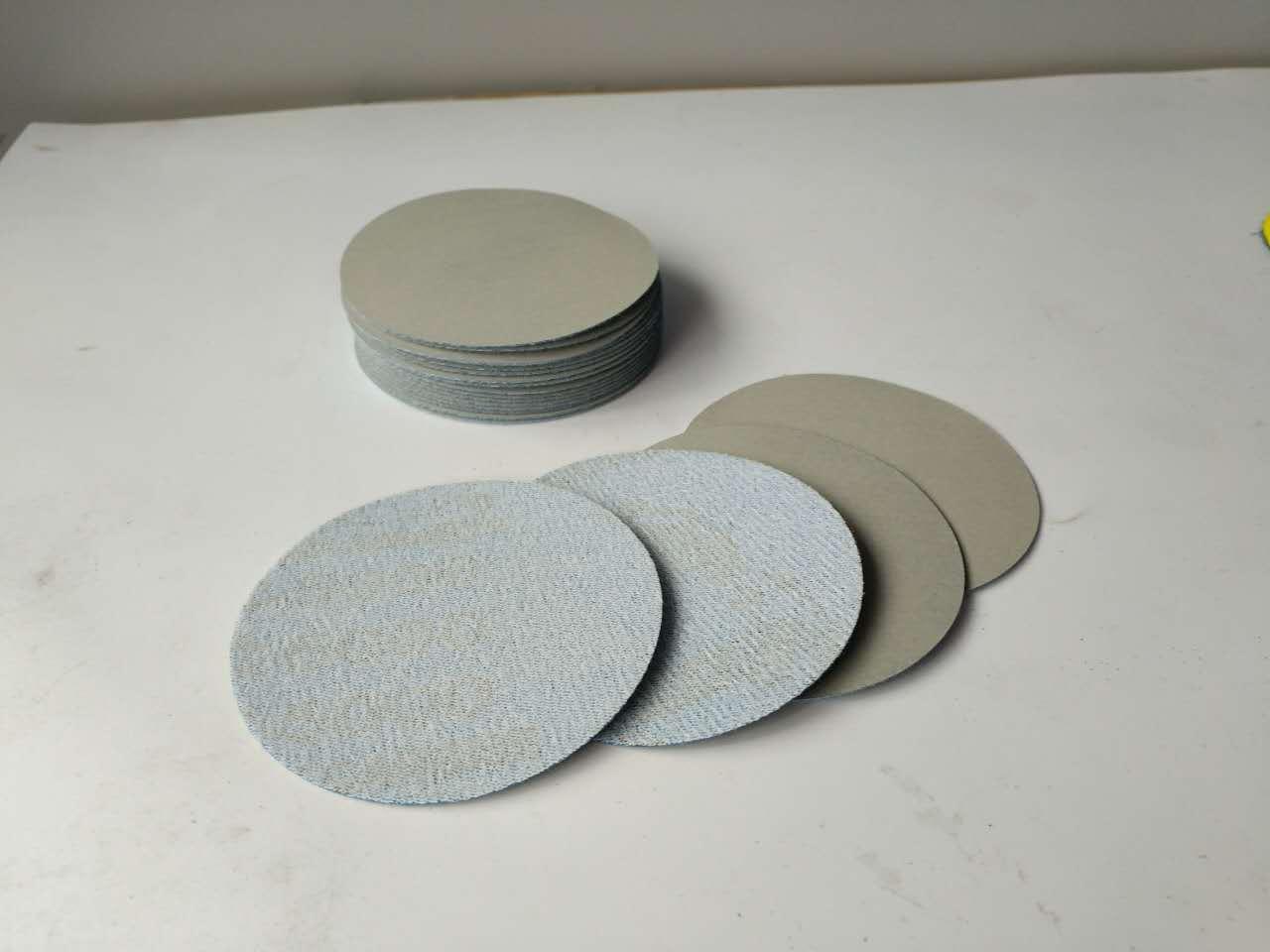 1-Inch 2-Inch 3-Inch 4-Inch 5-Inch 6-Inch 7-Inch 3000 # Import Gray Dragon Flocked Polishing Sand Paper Disc SNAD Paper Disk