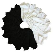 5 пар унисекс женские носки короткие низкие для женщин черные/серые/белые