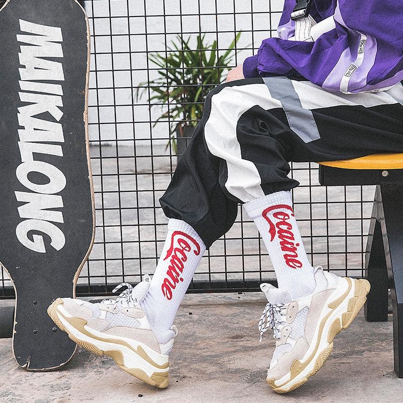 Hip Hop Tide Socks Harajuku Style Skateboard Socks BF Men And Women Cotton Socks Alphabet Couple Socks