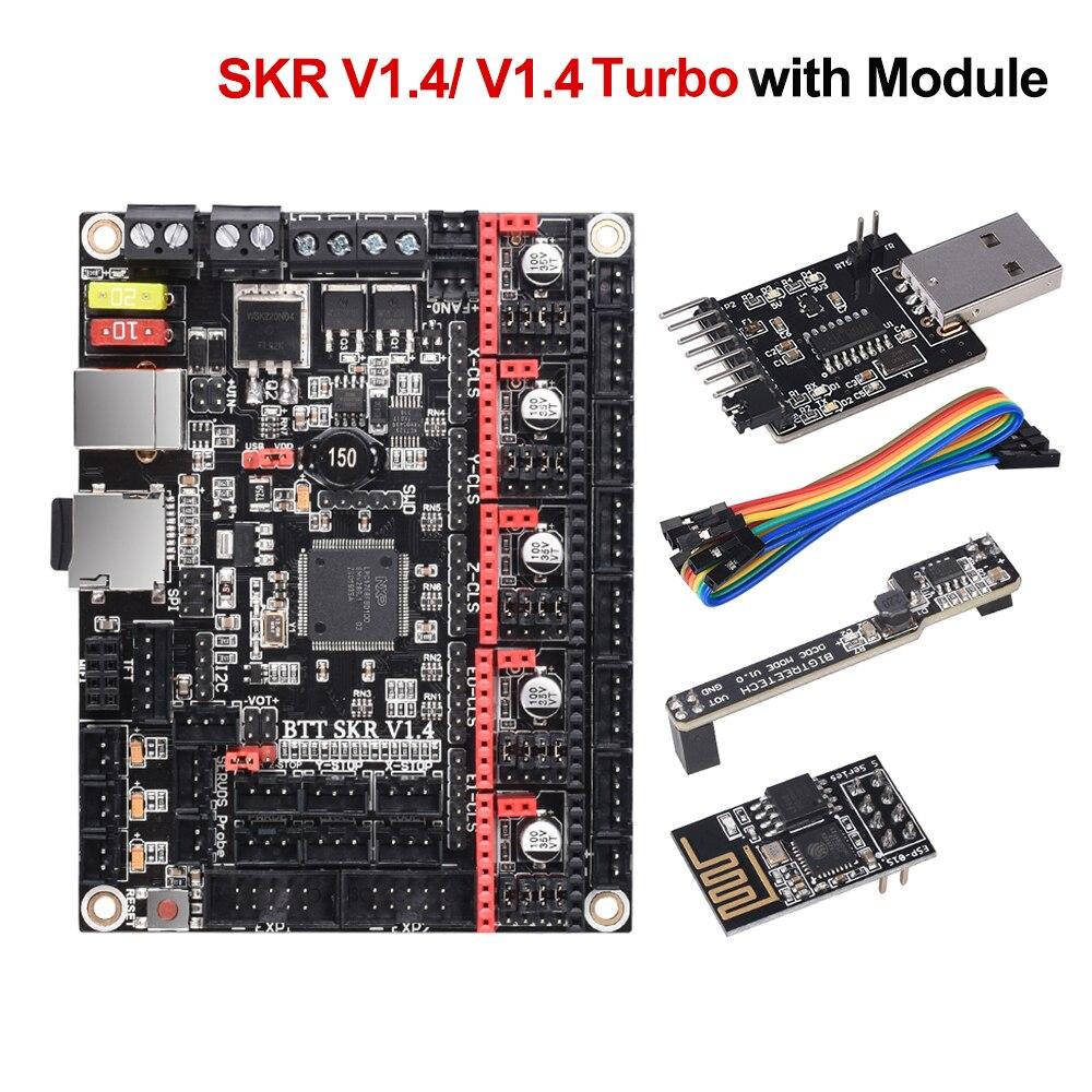 BIGTREETECH SKR V1.4 BTT SKR V1.4 Turbo Junta de Control de 32 bits WIFI escritor DCDC 3D piezas de la impresora SKR V1.3 TMC2130 TMC2209 TMC2208