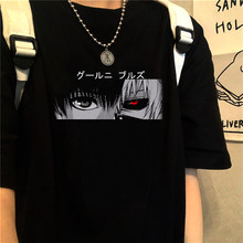 Japan Anime Tokyo Ghoul Funimation Kaneki Ken Cartoon Drucken Verlieren T-shirt Harajuku Casual Punk Khlen Streetwear Frauen T Shirt