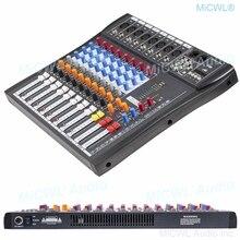 جهاز مزج الصوت 8 قناة تسجيل الموسيقى بلوتوث خلط وحدة التحكم خلاط 48 فولت فانتوم USB رصد MP3 3 العلامة التجارية EQ تأثير MiCWL CT800 U