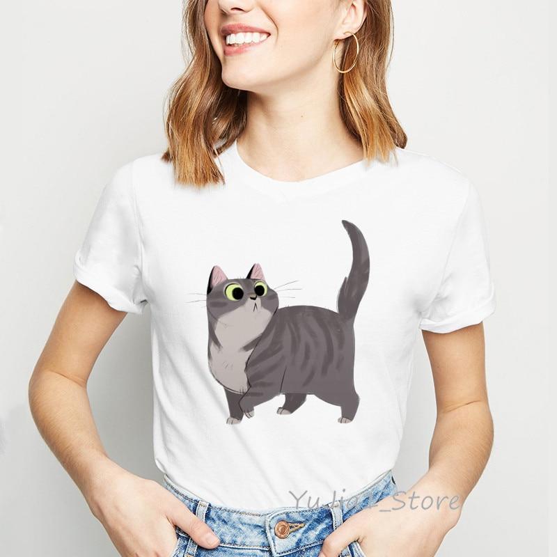 Cute I Like Cats Feline Lover Pet Owner Animal Lady Womens Ladies Tee Shirt T