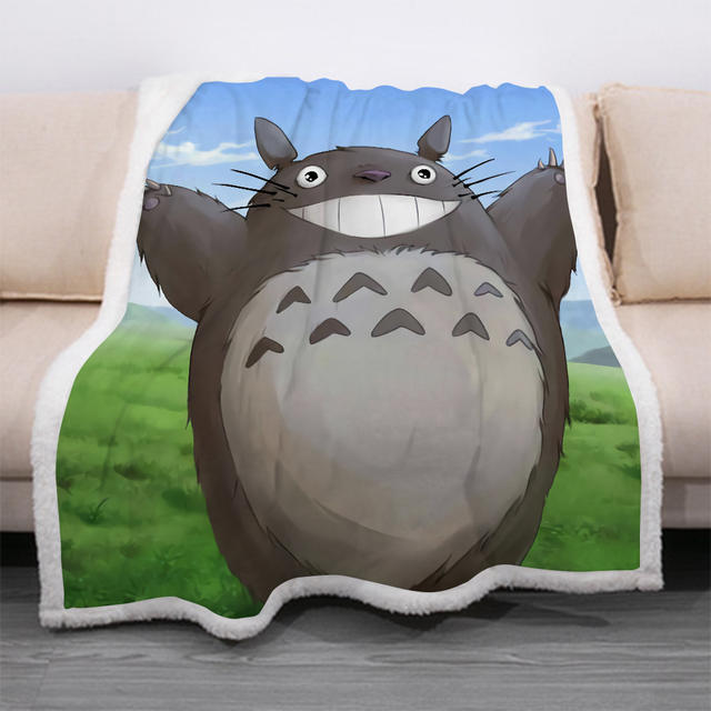 3D TOTORO THEMED BLACNKET