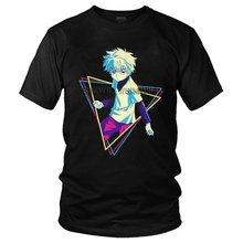 Camisa de algodão de manga curta anime hunter x hunter t-shirts presente merch manga curta