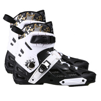 Slalom slalom skates upper boot fsk inline skates shoes roller skating patines shoe white blue 44 45 270mm 275mm foot length