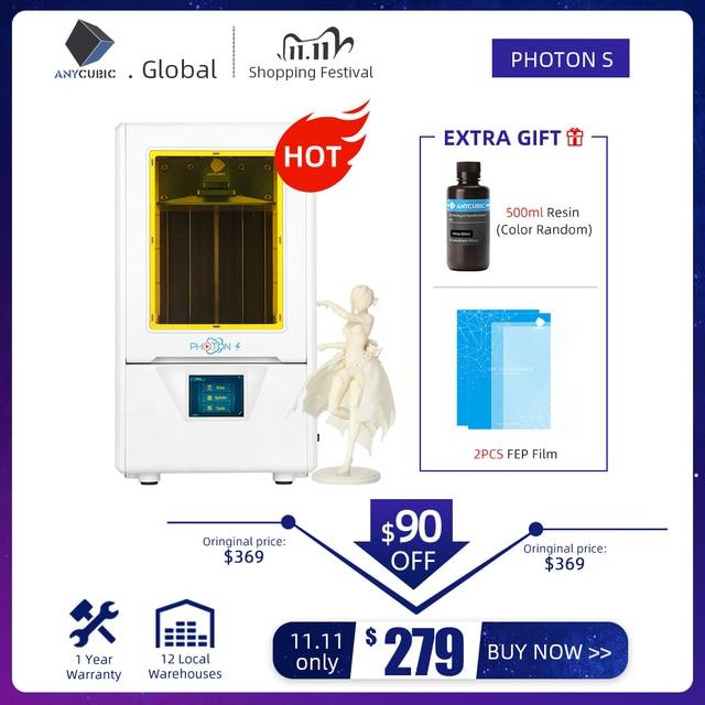 Anycubic Photon S SLA 3d printer DIY UV Resin 3d printer Kit Dental Dual Z axis laser Slicer impresora 3d drukarka 3d Jewerly