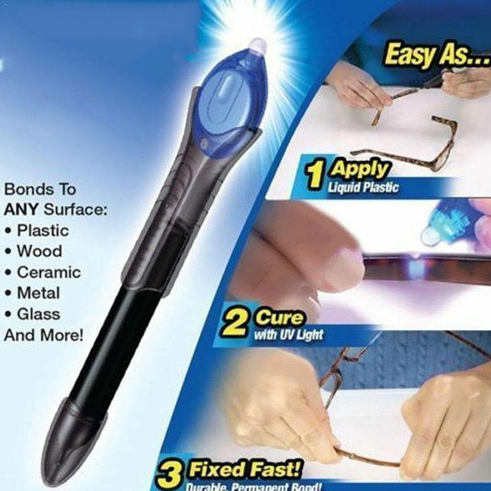 5 Second Quick Fix Liquid Glue Pen UV Light Repair With Liquid Compound Super Welding Glue Plastic Dip Powered Tool S8K1