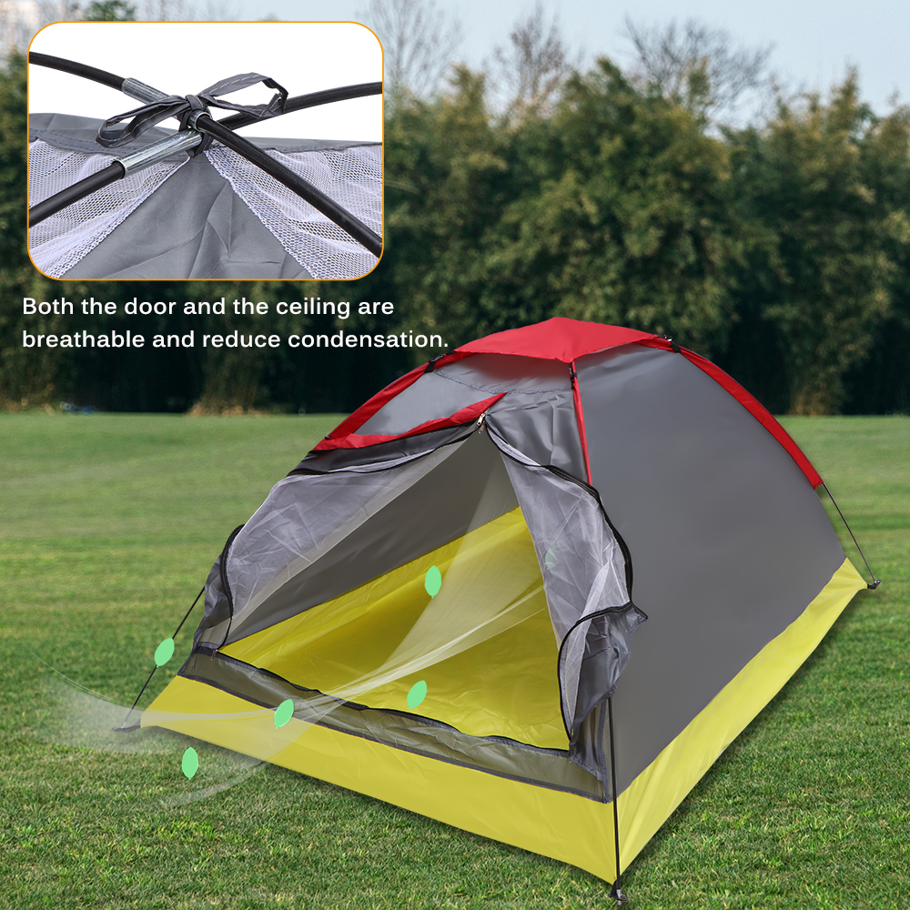 Outdoor Camping Tent Tourist Tents Automatic 3-4 Person Family Waterproof Sun Rain Wind Shelter Hiking Beach Tent Accessories