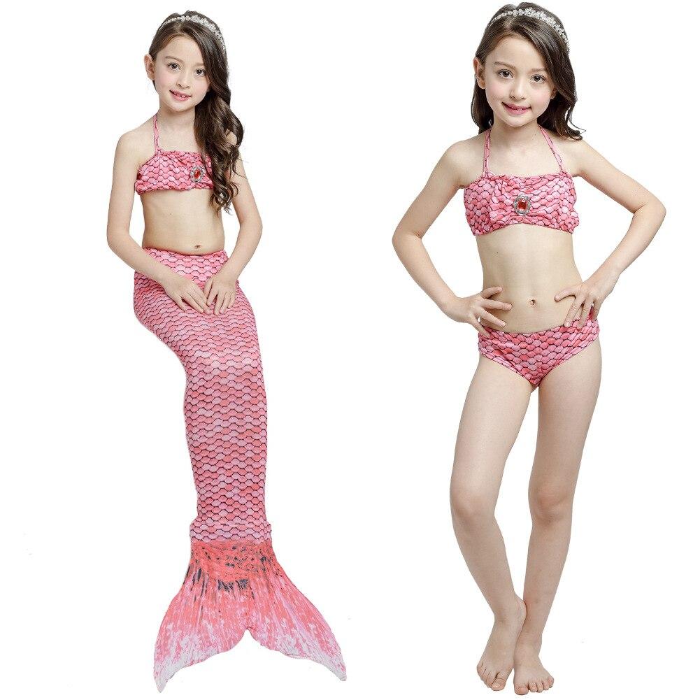 KID'S Swimwear GIRL'S Bikini Mermaid Three-piece Set Mermaid Swimsuit Childrenswear