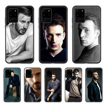 Chris Evans Handsome guy Celebrity Phone Case cover hull For SamSung Galaxy S 6 7 8 9 10 20 Plus Edge E 5G Lite Ultra black image
