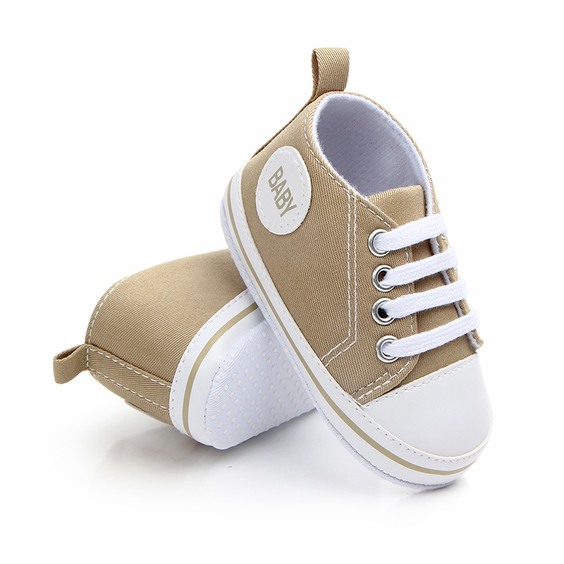 2020 Baby First Walkers Cute Newborn Kid Canvas Sneakers Baby Boy Girl Soft Sole Crib Shoes Pre Walkers 5