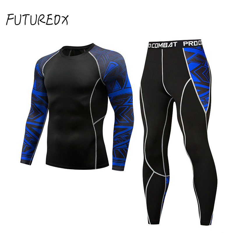 Bottoms Mma Rashguard Men Compression Pants Fitness Men Leggings  Thermal Underwear Bottom Base Layer Men's Tracksuit Clothing