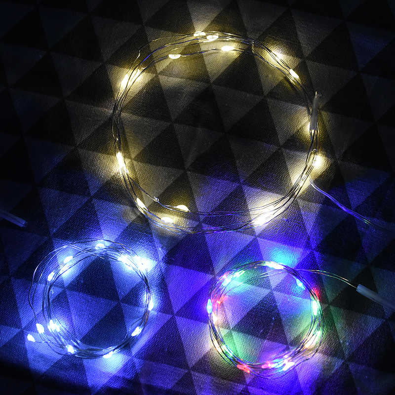 Led Light String Fairy Krans Kerst Outdoor Decoratie Licht Diy Wishing Fles Wedding Birthday Party Home Decoration