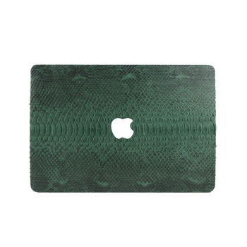 цена Unisex Luxury Design High Quality Green Python Skin Leather Case For Macbook Air Retina Touch bar 13