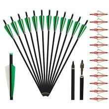 20 дюймов Углеродные болты для арбалета стрелы стрельбы из лука