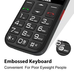 Image 3 - UNIWA V808G Strong Torch Push Button Loud Cellphone Big SOS 3G English Russian Keyboard 10 Days Standby 3G WCDMA Senior Mobile