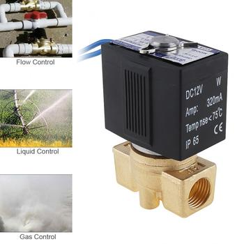 цена на Solenoid valve 1/4'' DC 12V Brass Electric Solenoid Valve with Two Pass Type and 1/4 Interface for Water / Oil / Gas