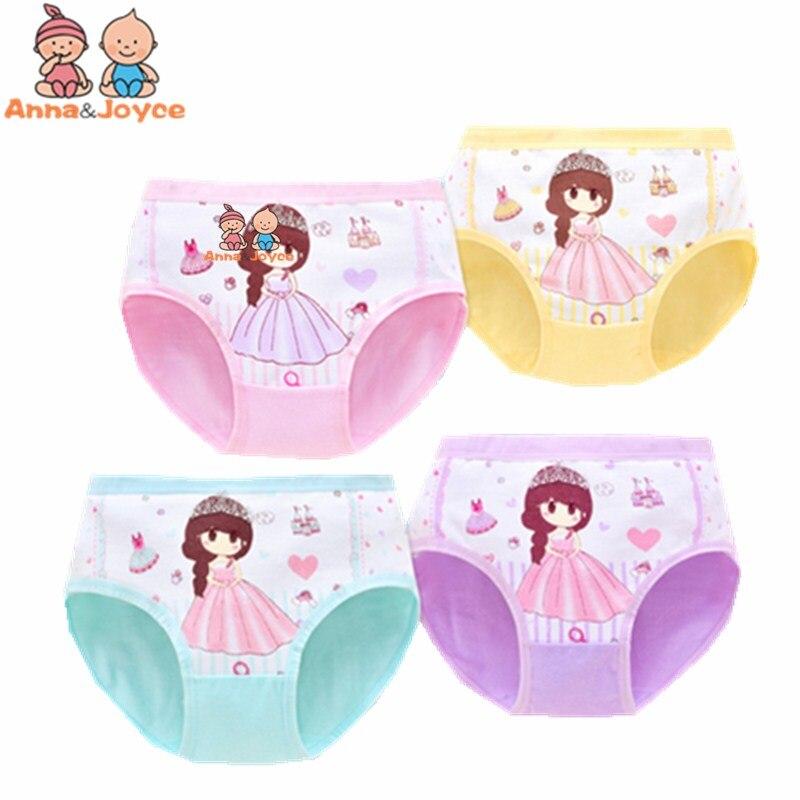 4pcs Lot New Arrive Briefs Cartoon Designs Kids Cotton Baby Girl Underwears Panties Child's Shorts 1