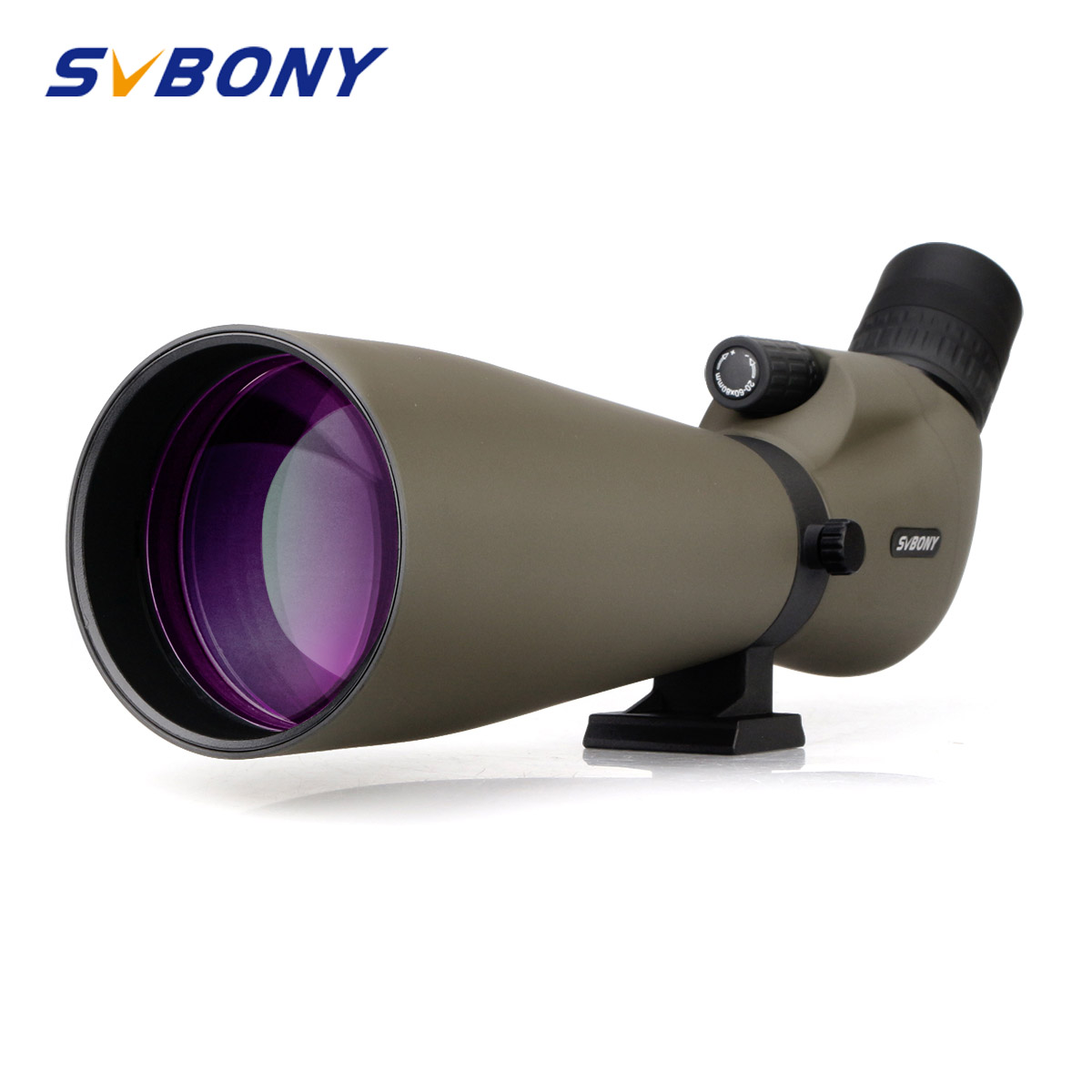 Svbony Spotting Scope 20-60x80 Zoom Monocular Telescope Multi-Coated Optics Refractor Spyglass Telescope Waterproof W/Tripod