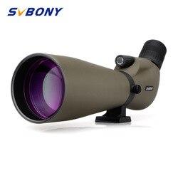 Svbony Telescopio Monocular de Zoom 20-60x80 con Refractor de óptica multicapa telescopio de Spyglass impermeable con trípode para caza, tiro, tiro con arco, observación de aves