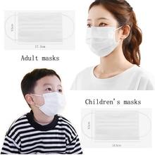 Маски Одноразовые 3 слойные для взрослых, 17,5*9,5 см, 5 шт./лот 100 шт./лот, мотоциклетная маска для лица