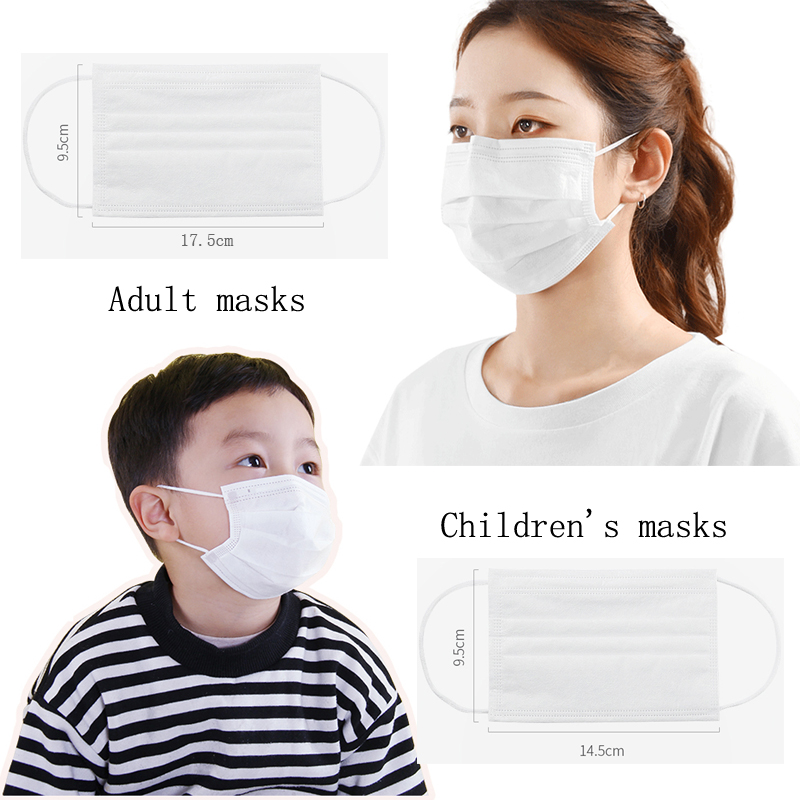 Disposable Protective Masks 3 Layers Adult masks 17.5*9.5CM 5PCS/LOT-100PCS/Lot Motorcycle Face Mask