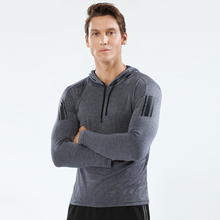 T-Shirt Fitness Bodybuilding Quick-Dry Sport GYM Breathable Running Men Mens Slim Hoodies