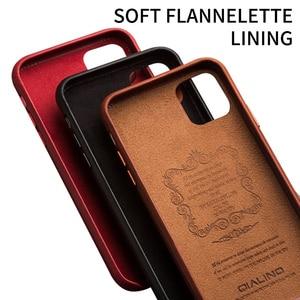 Image 5 - QIALINO 本革スリム電話ケース iphone 11/11 プロファッションピュアハンドアンチノック iphone 11 プロマックス