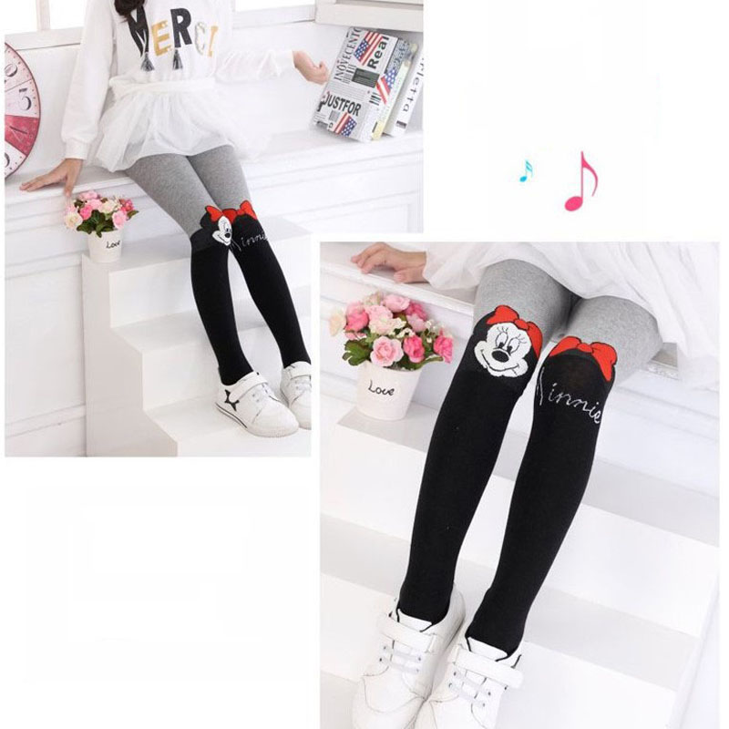 Disney Pantyhose For Girls Cute Hello Kitty Cartoon Tights Girls Infant Stockings Spring Thin Knitted Kids Children`s Pantyhose 2