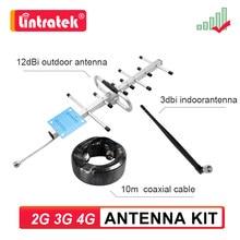 2g 3g 4g antena kit yagi externo + interno + cabo coaxial para sinal amplificador repetidor gsm umts lte telefone acessório