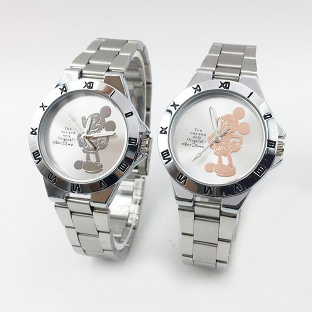Hot Fashion 3D Minnie Mouse Watch Women Elegant Women's Quartz Watches Silver Steel Bracelet Ladies Wristwatch Relogio Feminino