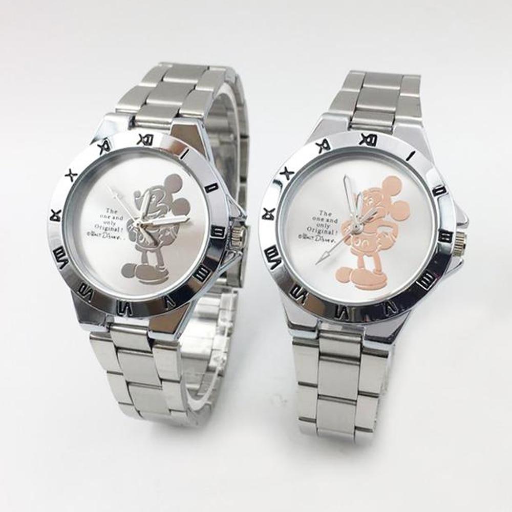 Hot Fashion 3D Minnie Mouse Watch Women Elegant Women's Quartz Watches Silver Steel Bracelet Ladies Wristwatch Relogio Feminino