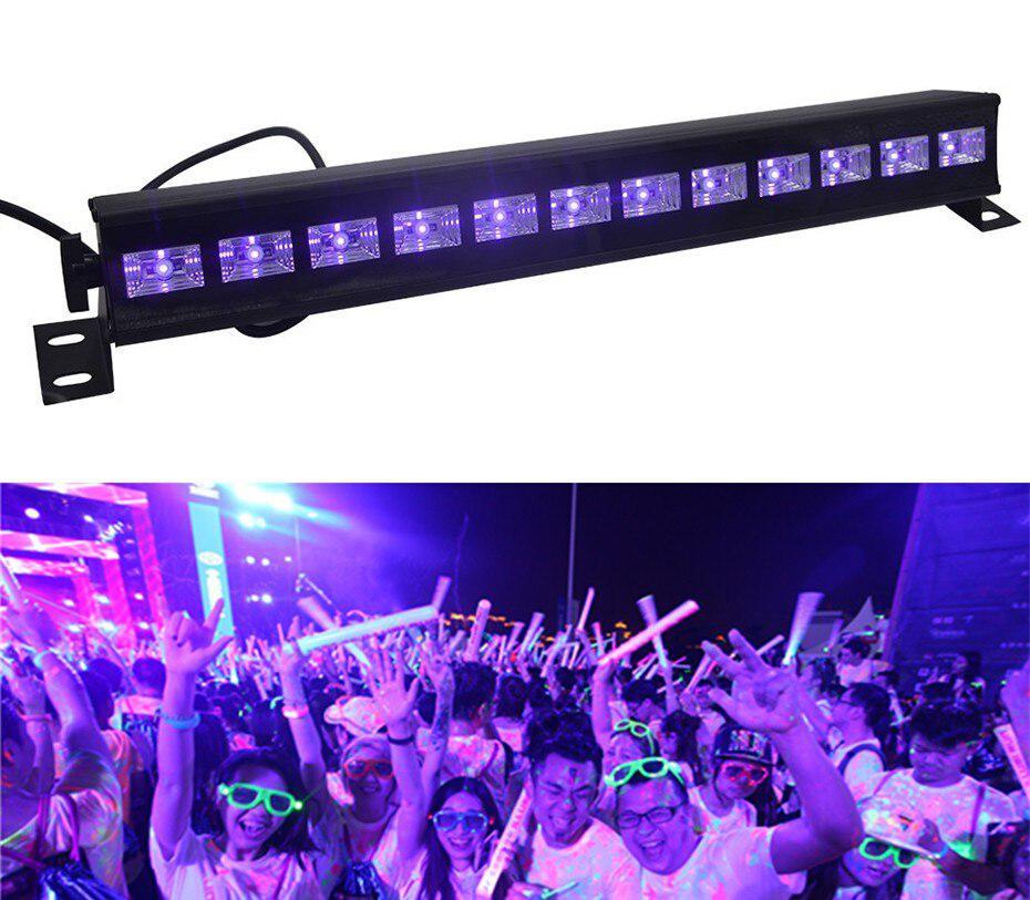 6/9/12LED Disco UV Violet Lights DJ 36W Par Lamp UV For Party Christmas Bar Lamp Laser Stage Wall Washer Spot Light Backlight