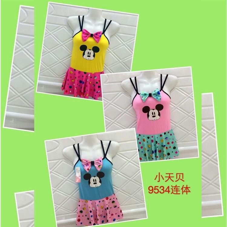 New Style Kids Siamese Swimsuit GIRL'S Swimsuit (3-6-Year-Old) 9534 CHILDREN'S Swimwear Childrenswear