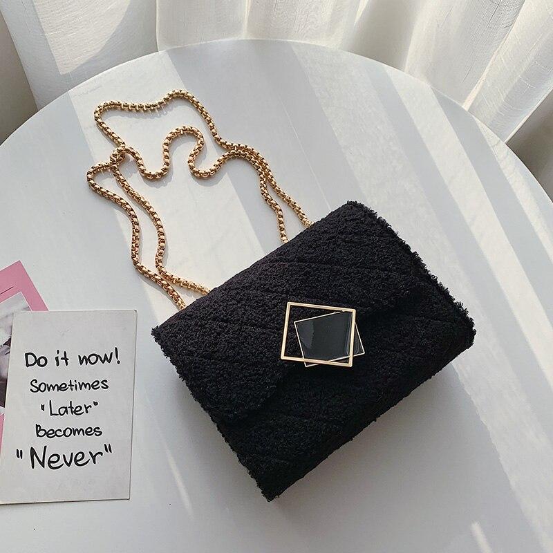 Купить женская шерстяная квадратная сумка книжка портативные сумки