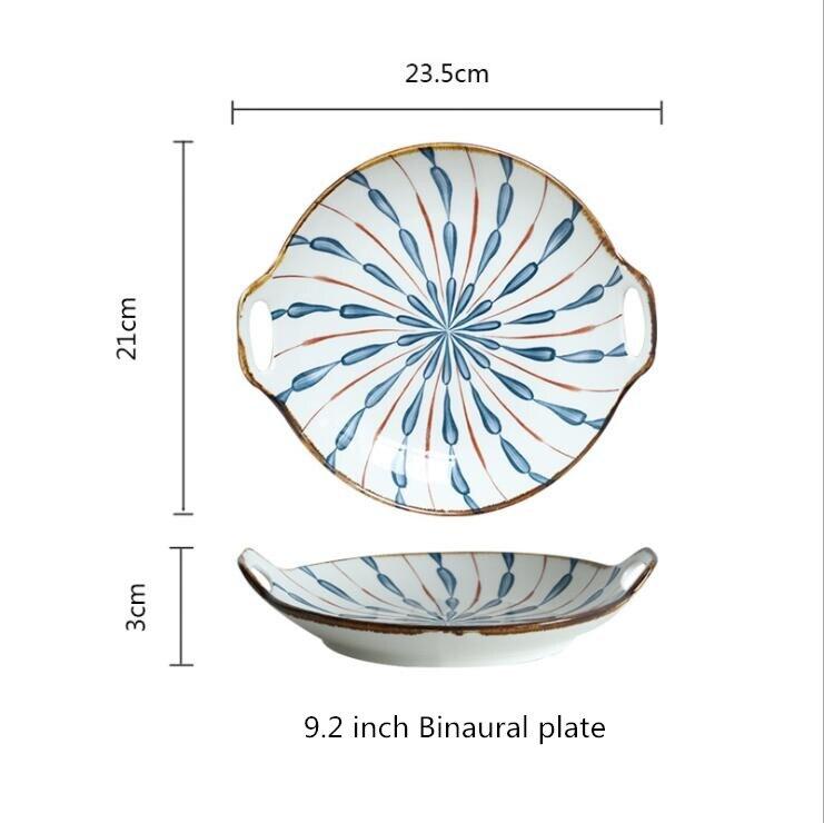 9.2inch round palte