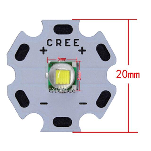 1 pièces CREE XML XM-L T6 LED U2 10W blanc froid blanc chaud bleu rouge vert UV LED émetteur Diode avec 12mm 14mm 16mm 20mm PCB pour bricolage
