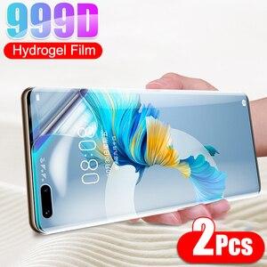 Гидрогелевая пленка 2 шт., не стекло для Huawei Mate 40 Pro PLus RS 5G P30 P20 P40 Lite E P10 10 20 30, полное покрытие, Защитная пленка для экрана