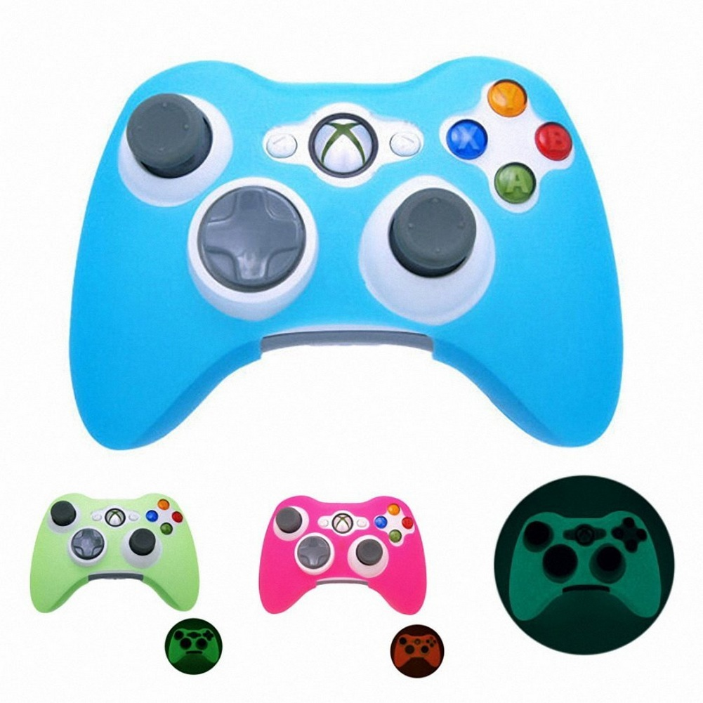 Glow In Dark Game Controller Cases Anti-Slip Silicone Gamepad Case Skin Protector Cover For Xbox 360 #5