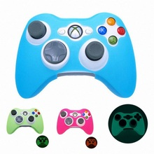 Glow in Dark Game Controller Cases Anti-Slip Silicone Gamepad Case Skin Protector Cover for Xbox 360 #5 commonbyte for xbox 360 controller silicone gel case skin 2pc unlock opening tools t8