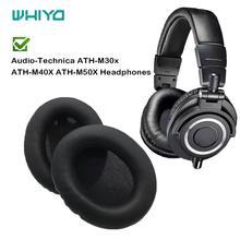 Whiyo 1 paar Ohr Pads für Audio Technica ATH M30x ATH M40X ATH M50X Headset Ohrpolster Ohrenschützer Abdeckung Kissen Ersatz Tassen