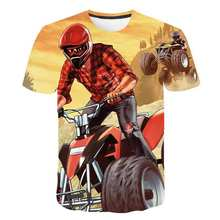 New spring boys and girls Japanese game Grand Theft Auto T-shirt children tee short-sleeved tops