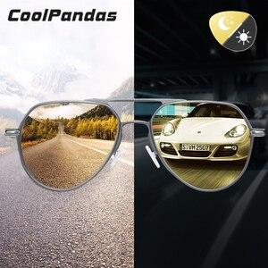 Image 1 - Gafas de sol fotocromáticas Unisex, lentes de sol polarizadas con visión nocturna de día, camaleón, para conducir, para hombre y mujer